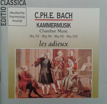 BACH, CARL PHILIPP EMANUEL - KAMMERMUSIK (CHAMBERMUSIC): THREE QUARTETS FOR FORTEPIANO, FLUTE AND VIOLA