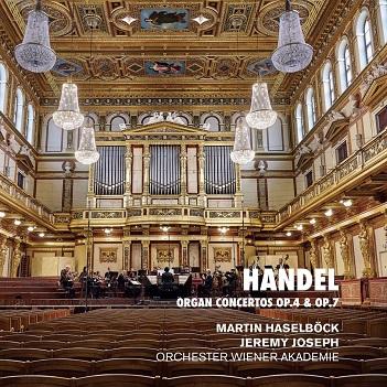 HASELBOCK, MARTIN/ORCHEST - HANDEL: ORGAN CONCERTOS..