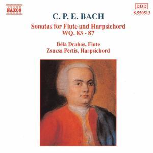 BACH, CARL PHILIPP EMANUEL - SONATAS FOR FLUTE & HARPSICHORD Wq. 83-87
