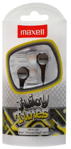 MAXELL EARPHONES - JUICY TUNES -ZWART/BLACK-